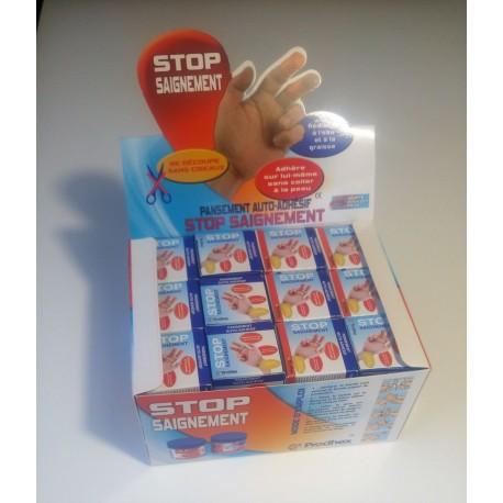 Pansement STOP SAIGNEMENT Présentoire de 32 pièces