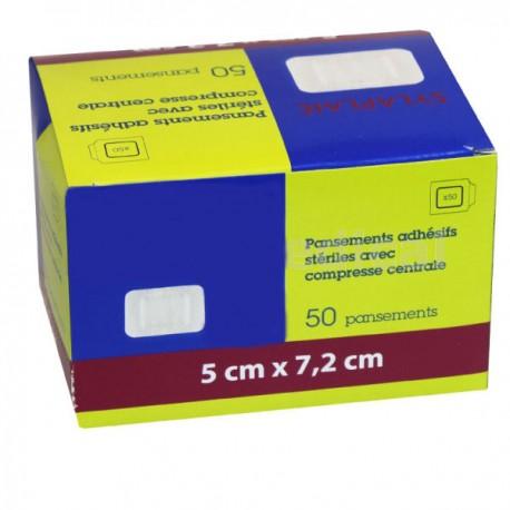 Boîte de 50 pansements Adhésifs Stériles 50 x 72 mm