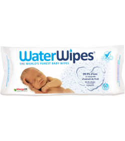 PACQ 60 LINGETTES BEBE WATER WIPES